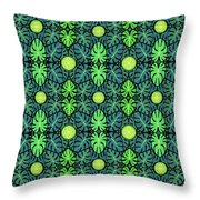 Monstera Leaves Pattern Throw Pillow