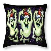 Ghostly Christmas Trio Throw Pillow