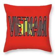 Flag Of Vietnam Word Throw Pillow