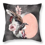Visions Of Crystal Eyed Ravens Throw Pillow