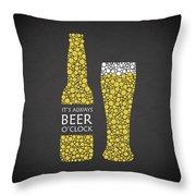 Its Always Beer Oclock Throw Pillow