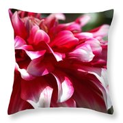 oozing With Life Dahlia Throw Pillow