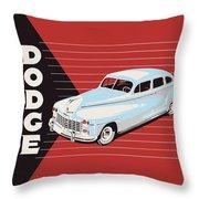 Dodge Showroom Poster Throw Pillow