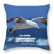 I Love Deadlines Douglas Adams Throw Pillow