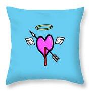 Cupids Heart Throw Pillow