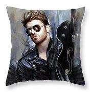 George Michael Singer Throw Pillow