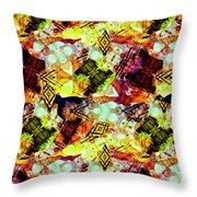 Graffiti Style - Markings On Colors Throw Pillow