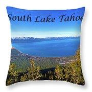 South Lake Tahoe, Ca And Nv Throw Pillow