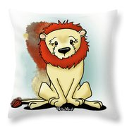 Lion Peaceful Reflection  Throw Pillow