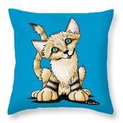 Sand Cat Throw Pillow