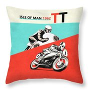 The Vintage Isle Of Man Tt Throw Pillow