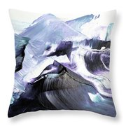 Glacier Mountains Throw Pillow