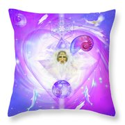 Heart Of The Violet Flame Throw Pillow