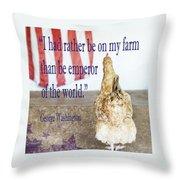 Patriotic Hen Throw Pillow