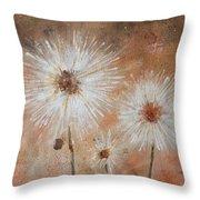 Summer Dandelions Throw Pillow