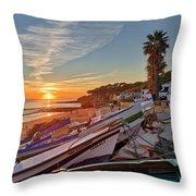 Olhos D'agua Village Sunset Throw Pillow