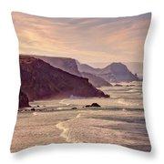 Praia Do Amado, Costa Vicentina Throw Pillow