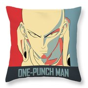 One-punch Man Throw Pillow