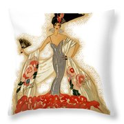 Elegant Woman Throw Pillow