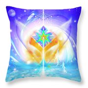 Blissful Heart Throw Pillow