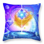 Heart Of The Galaxy Throw Pillow