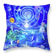 Infinite Life Force Throw Pillow