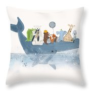 A Whale Of A Time  Throw Pillow