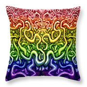 Interwoven Twisted Vines Of Life Throw Pillow