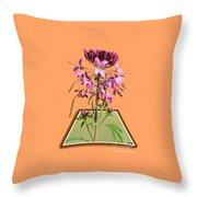 Rocky Mountain Bee Plant Throw Pillow