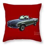 Classic Mercedes Benz 280 Sl Convertible Automobile Throw Pillow