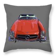 Classic Red Mercedes Benz 300 Sl Convertible Sportscar  Throw Pillow