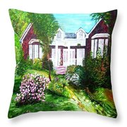 Country Estate In Spring Throw Pillow