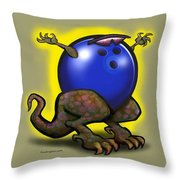 Bowling Beast Throw Pillow