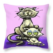 Cat N Kitten Throw Pillow