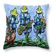 Blues Bonnets Throw Pillow