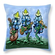 Blues Bonnets Throw Pillow