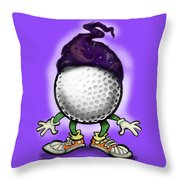 Golf Wizard Throw Pillow