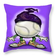 Softball Wizard Throw Pillow