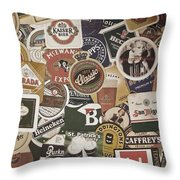 Beers Of The World Throw Pillow