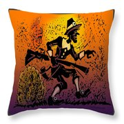 Thanksgiving Pilgrim Throw Pillow