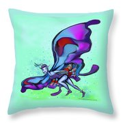 Blue Faerie Throw Pillow