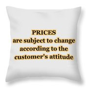 Store Sign Throw Pillow
