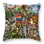 All Creatures Great Small Throw Pillow