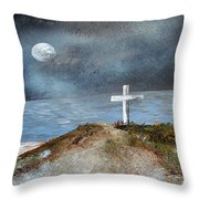 Pensacola Beach By The Light Of The Moon Throw Pillow