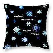 Snowflakes 4 Throw Pillow