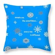 Snowflakes 5 Throw Pillow