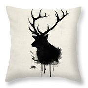 Elk Throw Pillow by Nicklas Gustafsson