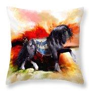 Kachina Hopi Spirit Horse  Throw Pillow