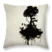 Last Tree Standing Throw Pillow by Nicklas Gustafsson