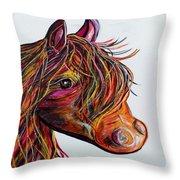 A Stick Horse Named Amber Throw Pillow